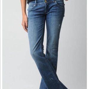 Hudson Medium Blue Wide Leg Jeans
